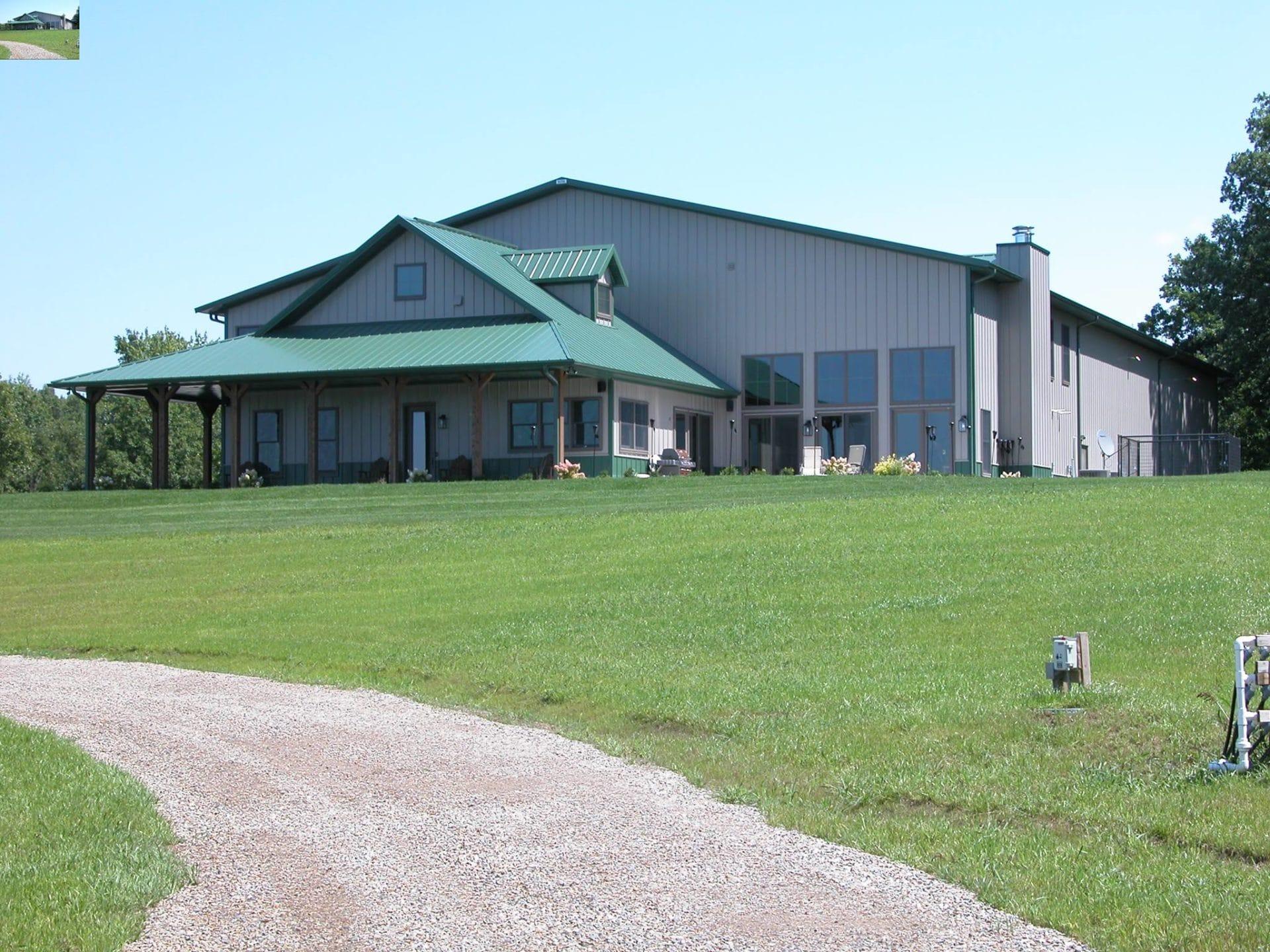 Residential Steel Pole Barn Cabins Walters Buildings