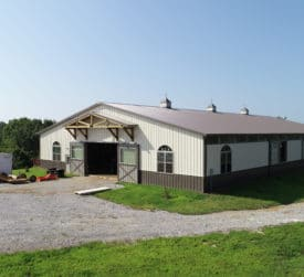 Pole Barn Equestrian Riding Arena