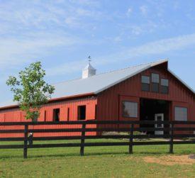 Horse Stall Pole Barn
