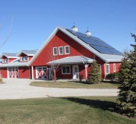 Pole Barn Home with Solar Panels