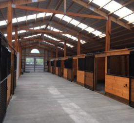 Interior Horse Barn with Skylights