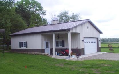 Metal Building Porch