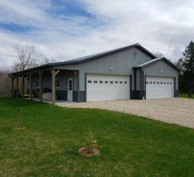 Steel Garage with Porch