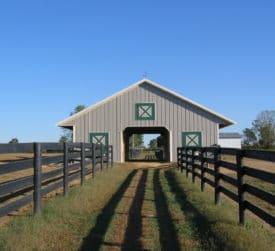 Pole Barn Run In Shed