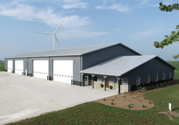 Farm Equipment Storage with Office Space
