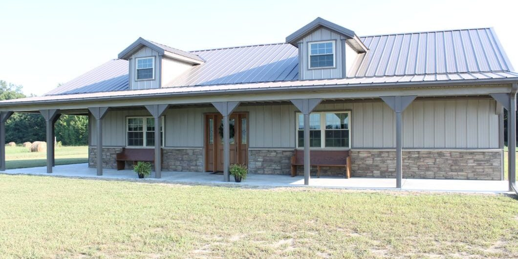 Wraparound Metal Porch